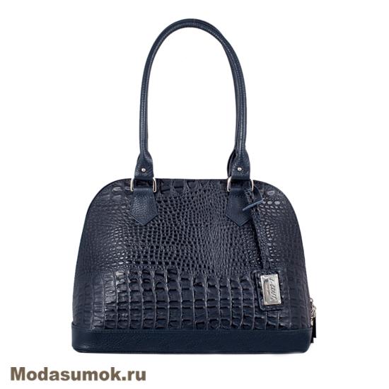 2503609ac9fb Женская сумка из натуральной кожи L-Craft L 7 синий кайман купить в ...